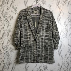 Max Studio Black And White Blazer Size Medium